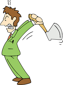 Angry Man with ax clipart