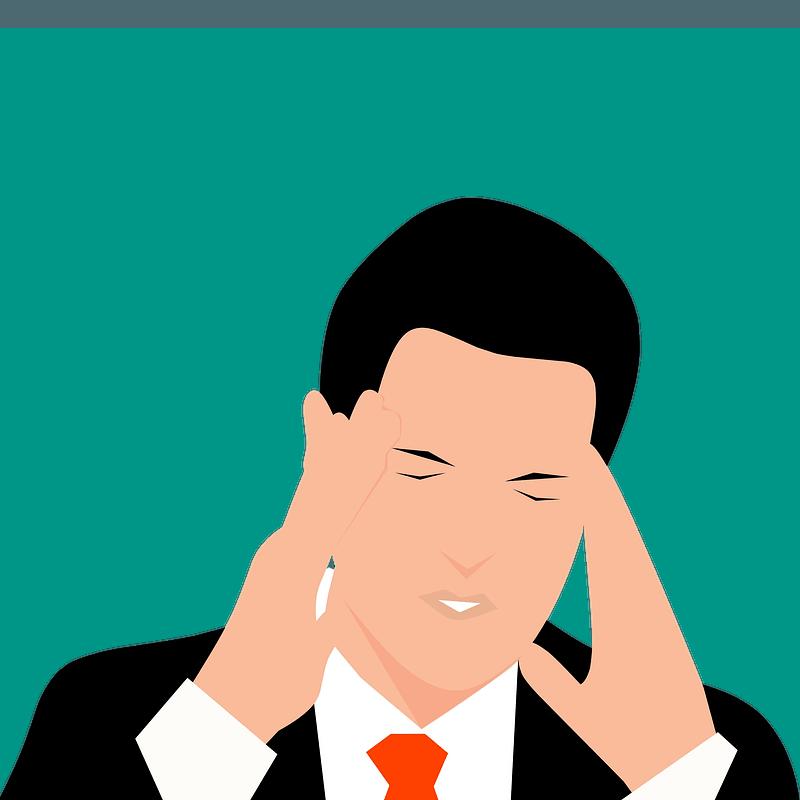 Worried man vector illustration | Free SVG