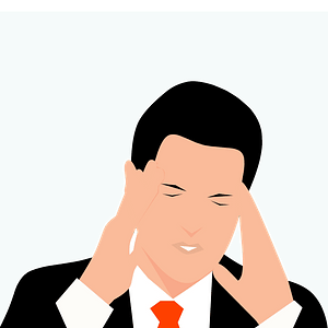 Man in stress clipart