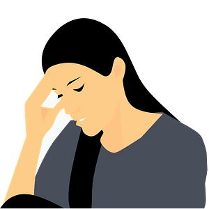 Depressed girl clipart