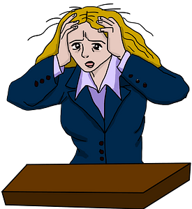 Stressed woman clipart