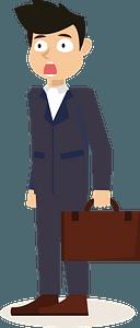 Stressed businessman clipart