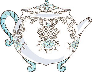 Chinese porcelain - teapot clipart