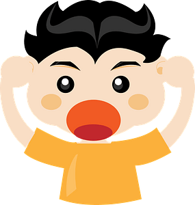 Man in frustration clipart