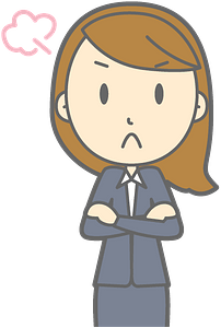 Upset business lady clipart