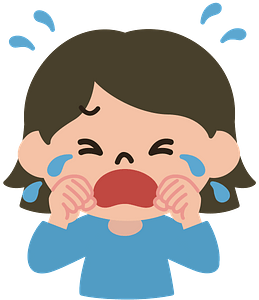 Crying lady clipart
