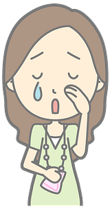 Lady crying clipart