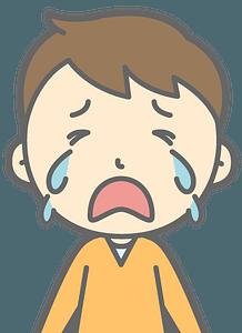 Kid in tears clipart