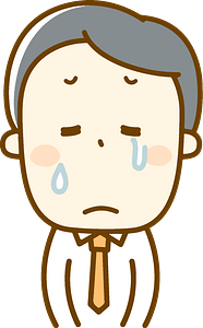 Man in tears clipart