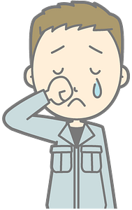 Crying male clipart
