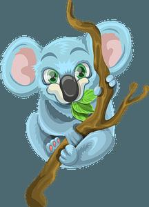 Koala Hugging Tree clipart