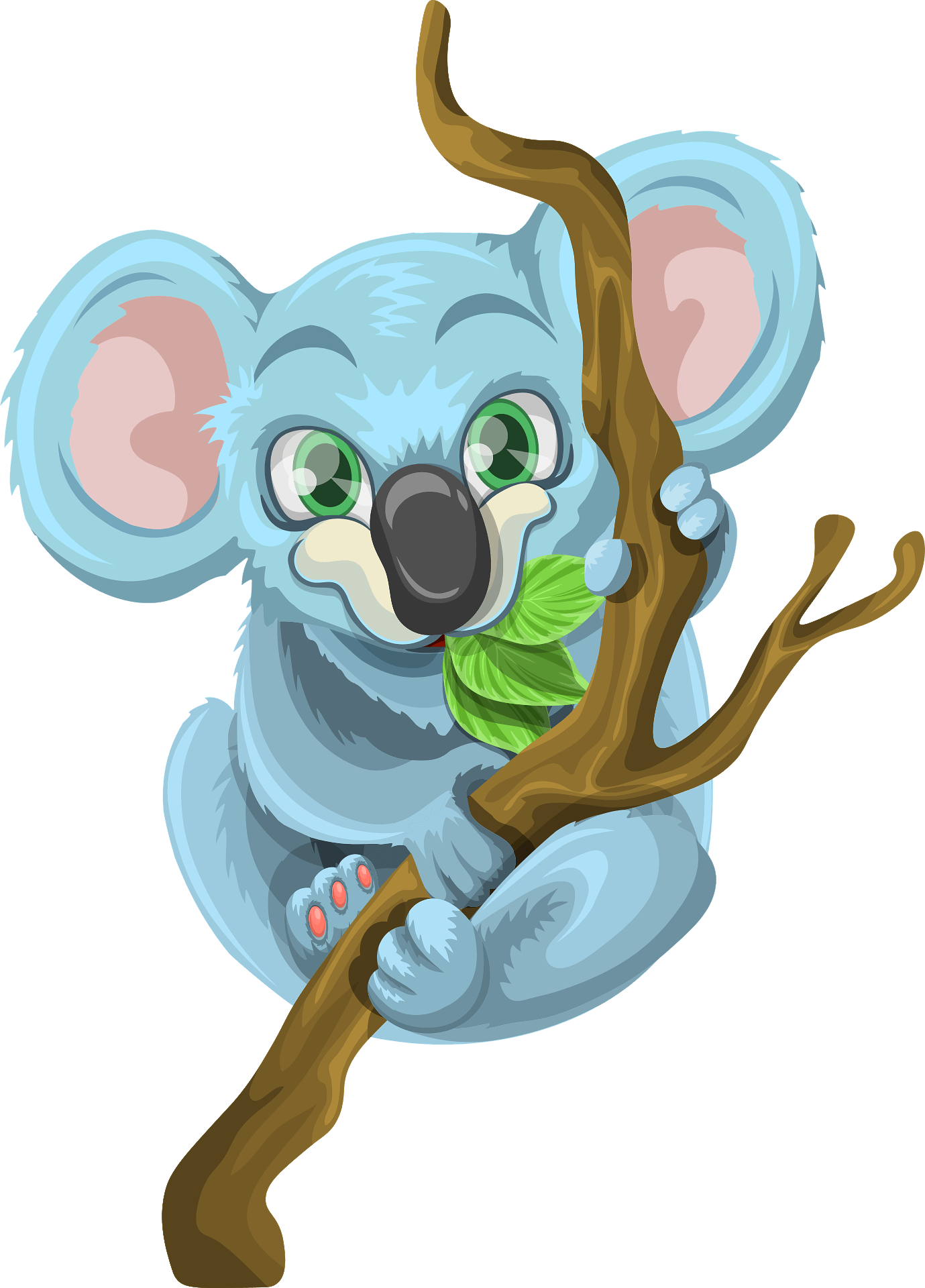 Koala Hugging Tree Clipart Free Download Transparent Png Creazilla Simple vector clip art illustration, kawaii mascot or logo. koala hugging tree clipart free