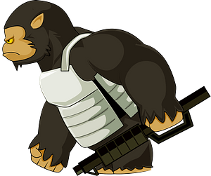 Gorilla Warrior immagine clipart