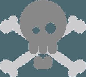 Skull and Cross bones - Grayscale clipart