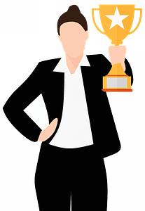 Business winner clipart