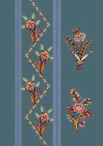Vintage flower design clipart
