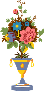 Vase with flowers clipart
