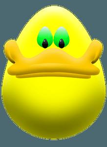 Easter egg duck clipart