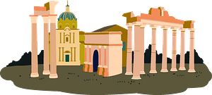 The Roman Forum clipart