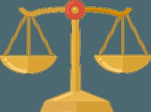 Balance scale clipart