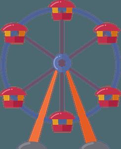 Ferris wheel clipart