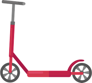 Kick scooter clipart