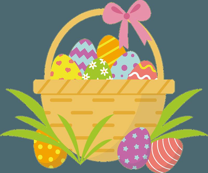 Easter basket clipart. Free download transparent .PNG ...