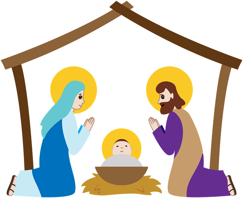 Nativity stable clipart