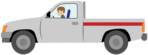 Pickup truck clipart