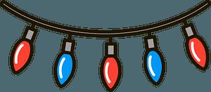 Christmas string lights кліпарт