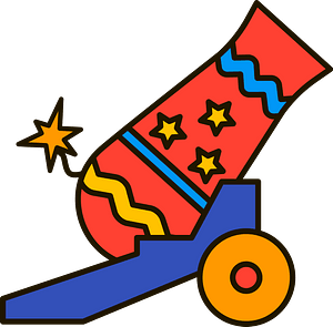 Circus cannon clipart
