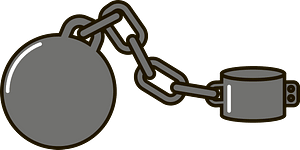 Slave chains clipart