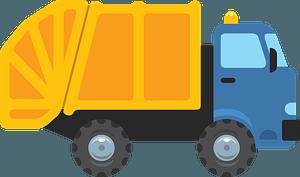 Garbage truck clipart