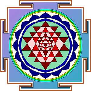 Sri yantra - Chakra Symbol clipart