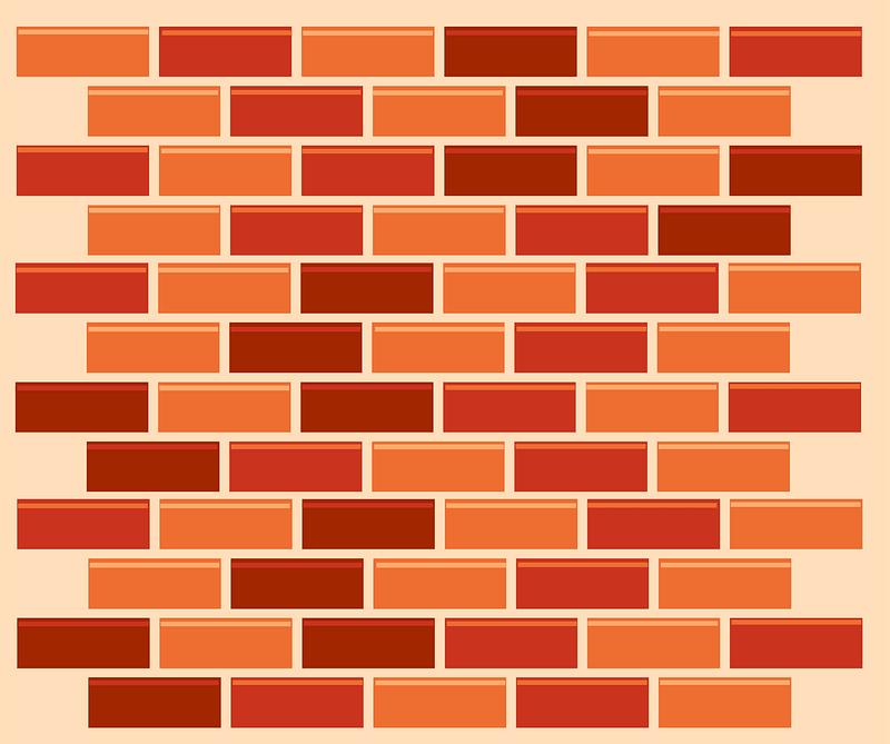 Brick wall clipart