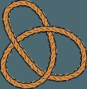Trefoil knot clipart