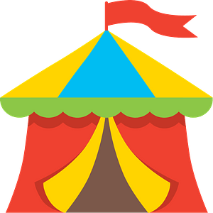 Circus tent clipart