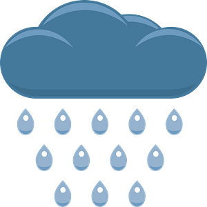 Cloud with rain clipart