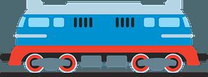 Diesel locomotive clipart