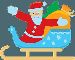 Santa sleigh кліпарт