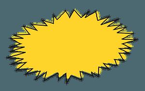 Yellow Zap clipart
