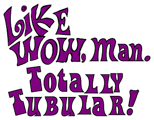 Like WOW, man. Totally Tubular! clipart