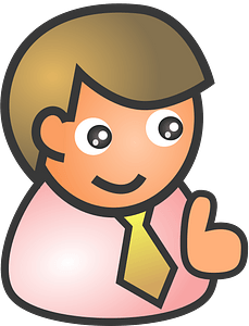 Male smile clipart