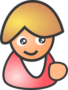 Female smile clipart
