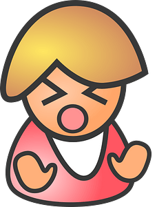 Female sad clipart