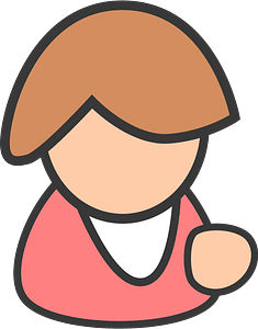 Female pink clipart