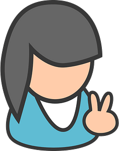 Female cyan clipart