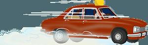 Peugeot 504 taxi clipart