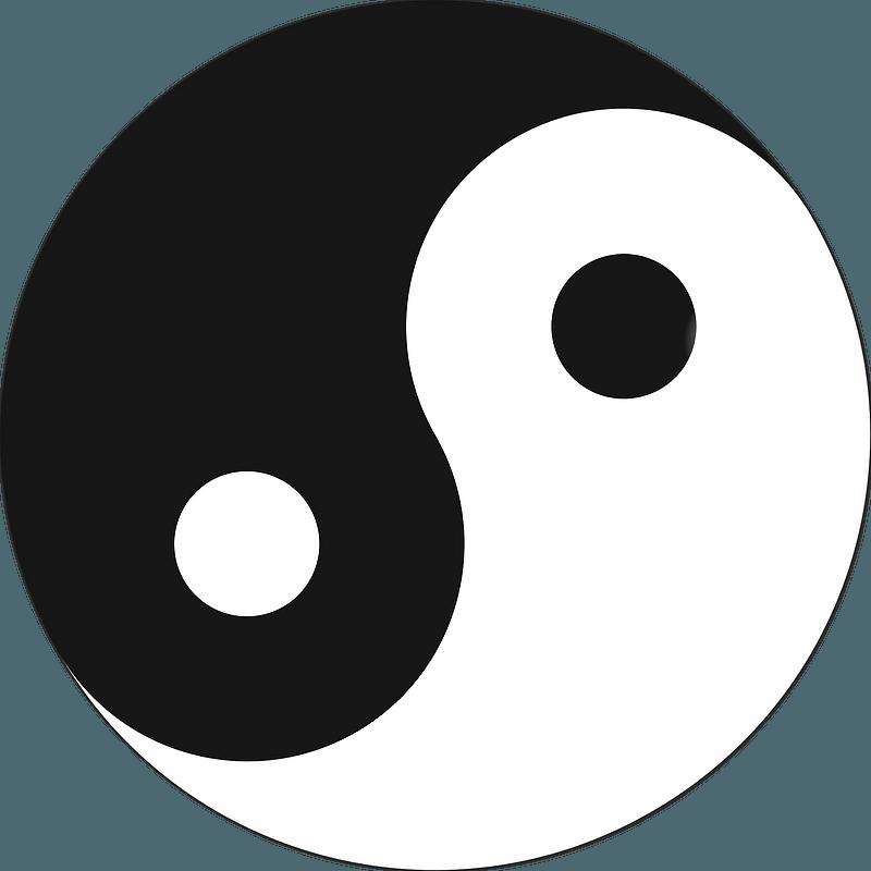 yin yang symbol clipart free download transparent