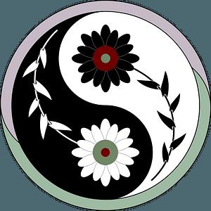 Yin-Yang flower clipart